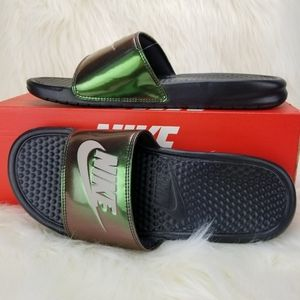 NEW NIKE BENASSI JDI PRINT Sandals Slippers sz 9